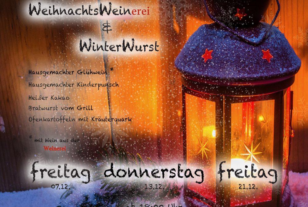 21. Dezember | WeihnachtsWeinerei & Winterwurst |