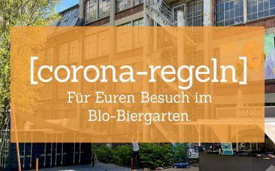 Corona-Regeln für einen Besuch im Blo-Biergarten