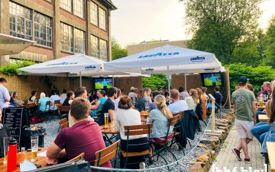 Public-Viewing an der Wuppertaler Nordbahntrasse | EM 2021